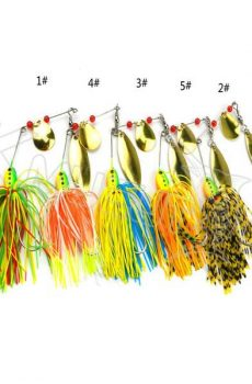colorful spinner baits