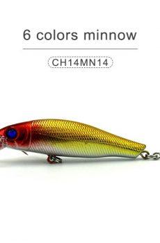 6 colors minnow 85mm 9gr