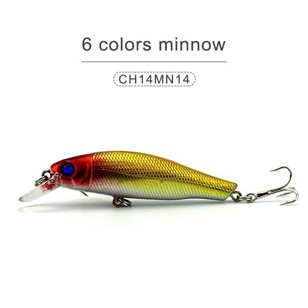 6 colors minnow 85mm 9gr