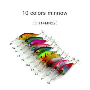 10 colors minnow 14cm 16gr