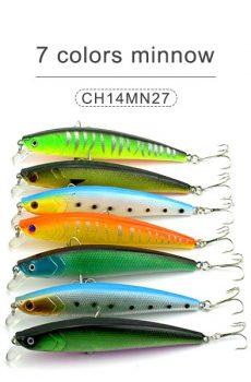 7 colors minnow 11cm 10gr