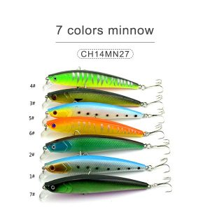 7 colors minnow 11cm 10gr