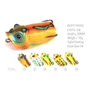 Soft popper frog
