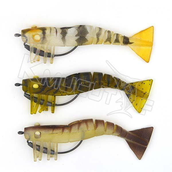 Live Shrimp Soft Fishing Lures TPR Shrimp(9cm)