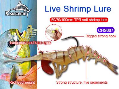 TPR soft shrimp fishing lure, super prawn bait