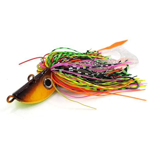 Squid head rubber skirts snapper jigs saltwater fishing jigs CHLP27A