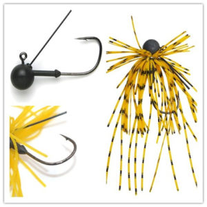 Chentilly Tungsten Jig Heads Fishing Lures With Rubber Skirts