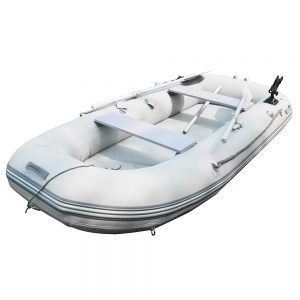 inflatable belly boat fishing boat combo fishing tackle three chamber