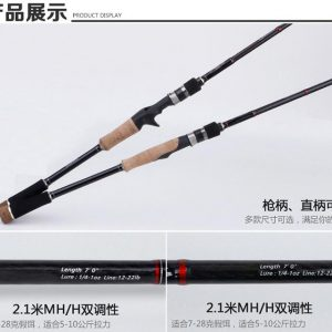 KLU22—2PCS Lure Rod Spinning/Casting with Sea-Guide Ring